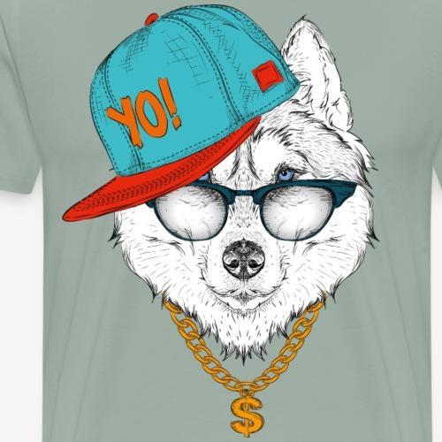 cool husky - Men's Premium T-Shirt
