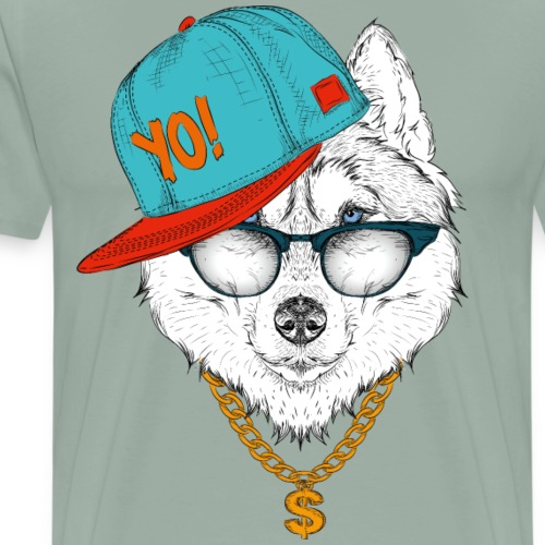 cool husky - Men's Premium T-Shirt
