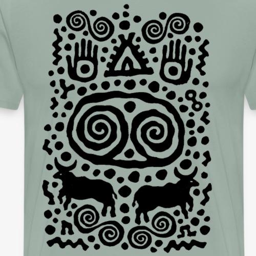 Hands Bulls and Home by Qenjo - Men's Premium T-Shirt