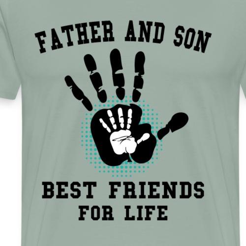 father and son best friends son - Men's Premium T-Shirt