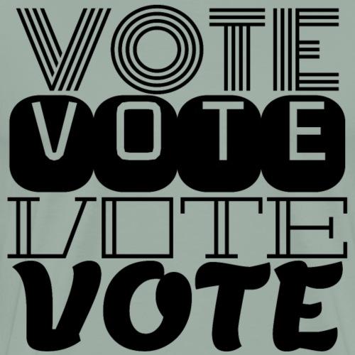 vote black text - Men's Premium T-Shirt