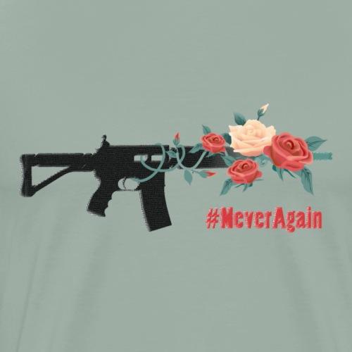 Never Again (roses) - Men's Premium T-Shirt