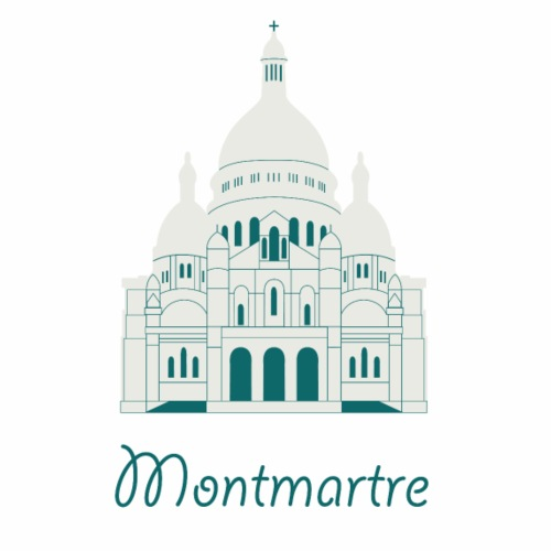 Cute Montmartre Church Logo Gift Present Idea - Men's Premium T-Shirt