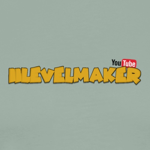 Text W/ Youtube Logo - Men's Premium T-Shirt