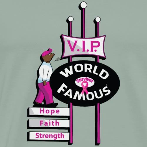 Cancer Awareness VIP Sign - Men's Premium T-Shirt
