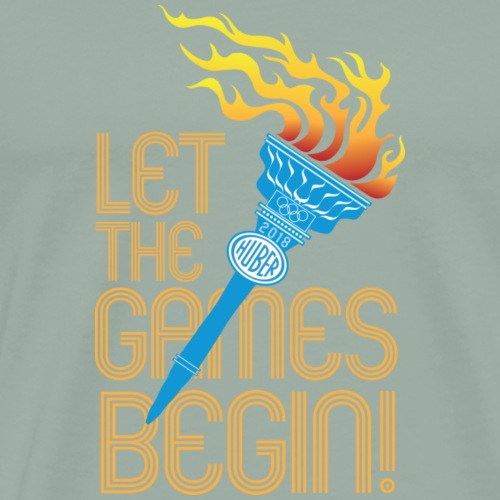 Huber Let The Games Begin 2018 yellow - Men's Premium T-Shirt