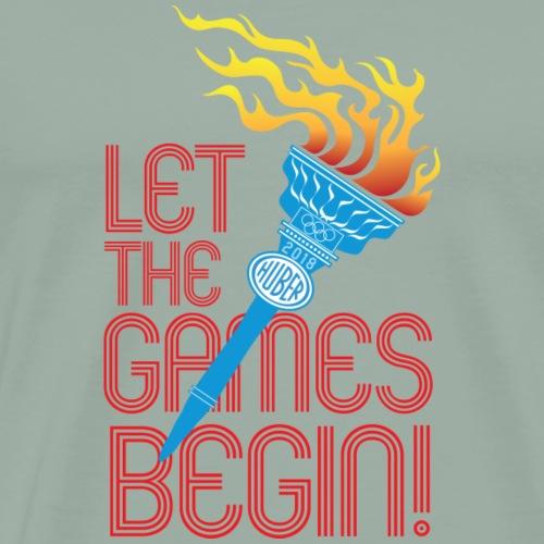 Huber Let The Games Begin 2018 red - Men's Premium T-Shirt