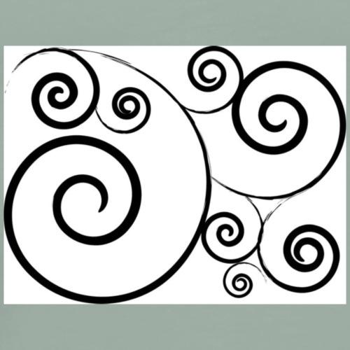 09e4b6eed07d57722b92c1192e8b79fa swirl tattoo ble - Men's Premium T-Shirt