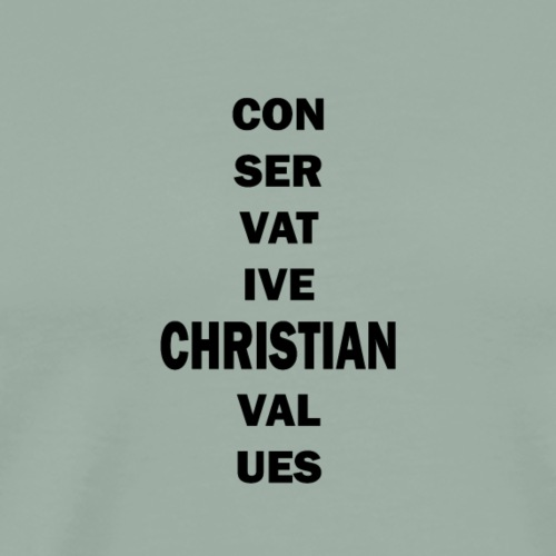 Conservative Christian Values (Black Text) - Men's Premium T-Shirt