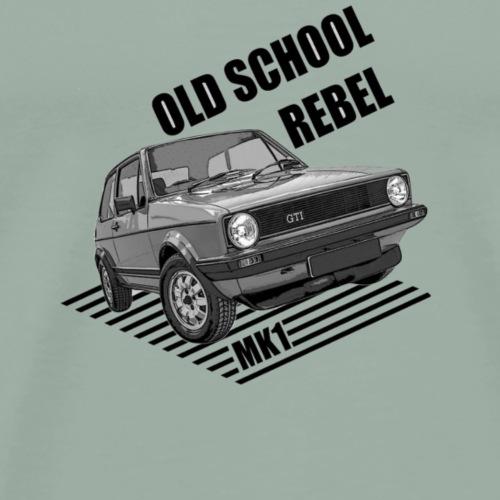 Old school rebel car - Men's Premium T-Shirt