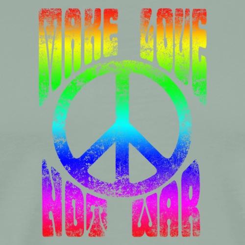 60's Make Love Not War Peace Sign - Men's Premium T-Shirt