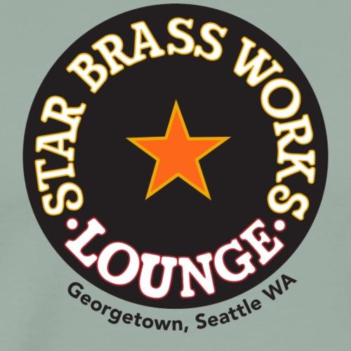 StarBrass Works Logo in Black CIrcle - Men's Premium T-Shirt
