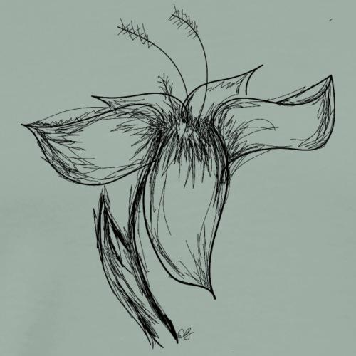 Flower Sketch - Men's Premium T-Shirt