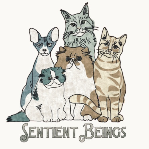 CATS - SENTIENT BEINGS - Carolyn Sandstrom - Men's Premium T-Shirt