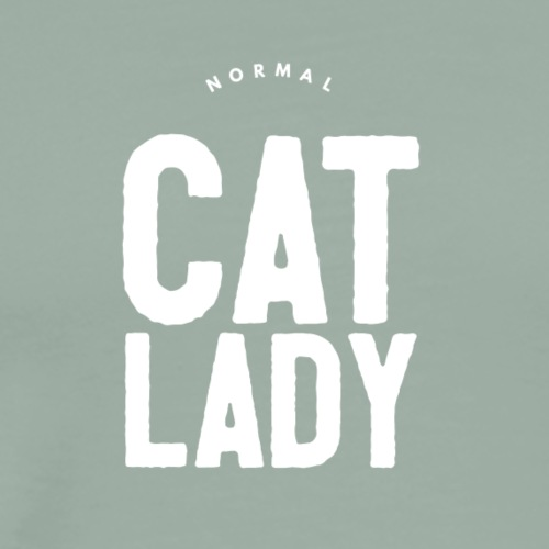 Normal Cat Lady black tshirt - Men's Premium T-Shirt