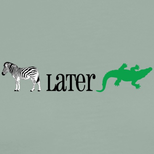 Zebra Later Alligator - Men's Premium T-Shirt