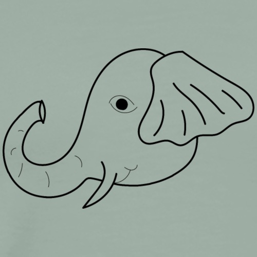 elephant sketch - Men's Premium T-Shirt