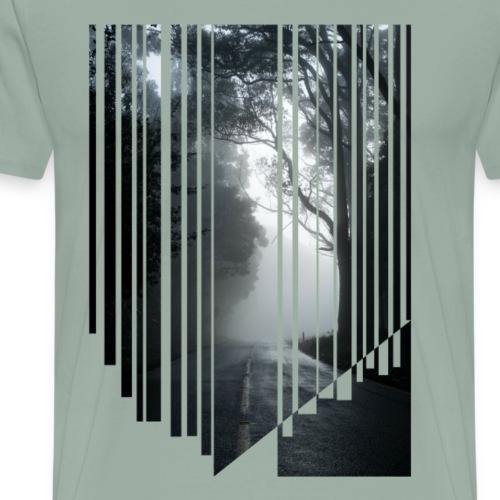 Foggy road - Men's Premium T-Shirt