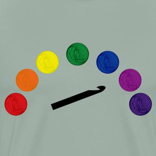 Rainbow Yarn Crochet - Men's Premium T-Shirt
