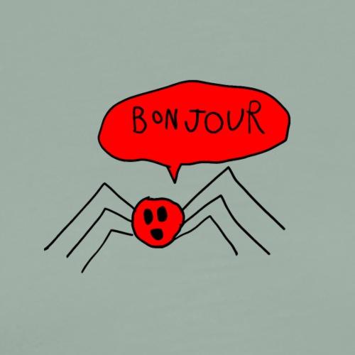 Bonjour Spider Tshirt - Men's Premium T-Shirt