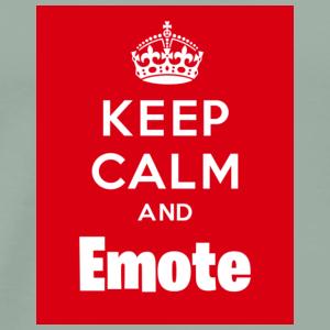 Keep Calm and Emote - Men's Premium T-Shirt