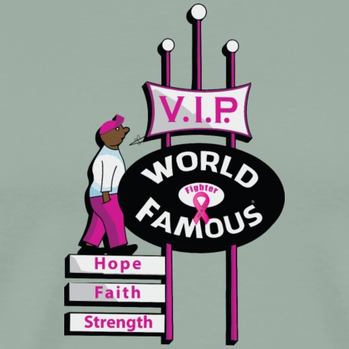 World Famous VIP Fighter - Men's Premium T-Shirt