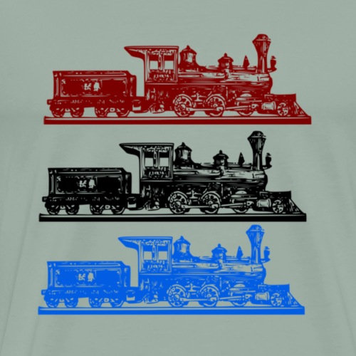 3 Steam Trains - Men's Premium T-Shirt