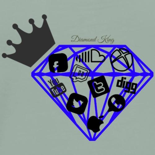 Diamond King   Social Media   Blacc Hollywood - Men's Premium T-Shirt