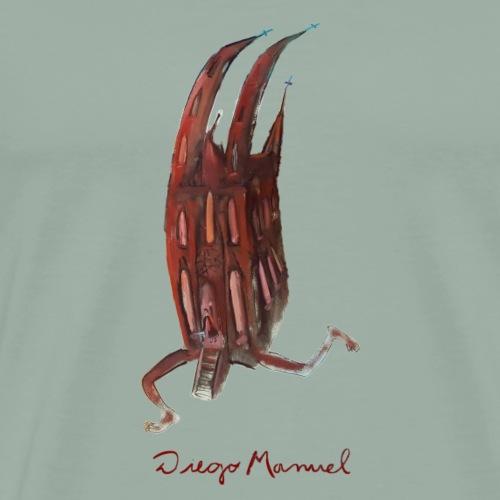 Catedral asustada - Men's Premium T-Shirt