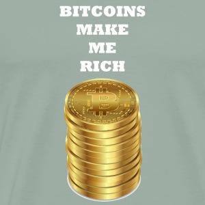 Gift Bitcoins make me rich - Men's Premium T-Shirt
