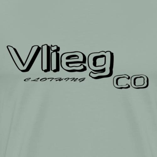 Vlieg Co logo tee in black - Men's Premium T-Shirt