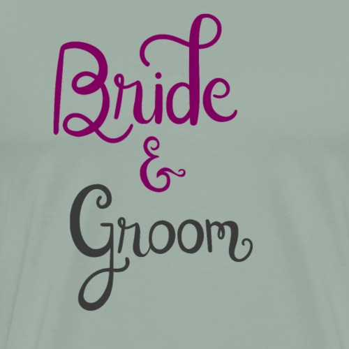 bride and groom - Men's Premium T-Shirt
