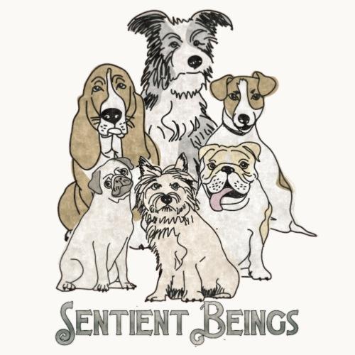 DOGS-SENTIENT BEINGS-white text-Carolyn Sandstrom - Men's Premium T-Shirt