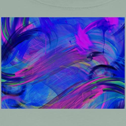 Blue Purple Paint Still Background - Men's Premium T-Shirt