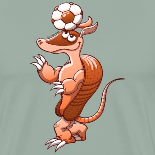 Armadillo Playing Soccer - Men's Premium T-Shirt