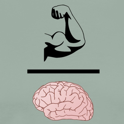 Gains Over Brains - Men's Premium T-Shirt