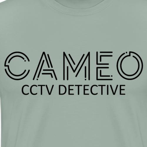 CAMEO CCTV Detective (Black Logo) - Men's Premium T-Shirt