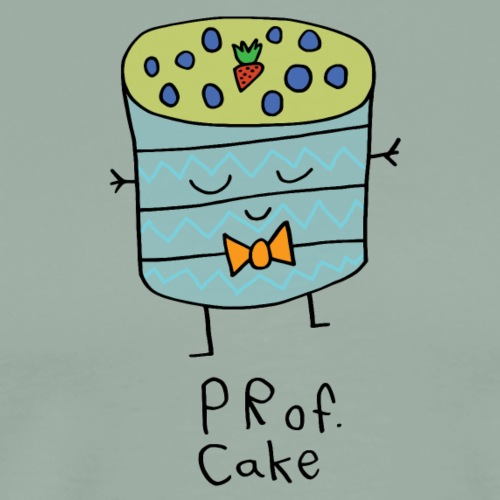 Prof Cake, Black Outline (tshirts) - Men's Premium T-Shirt