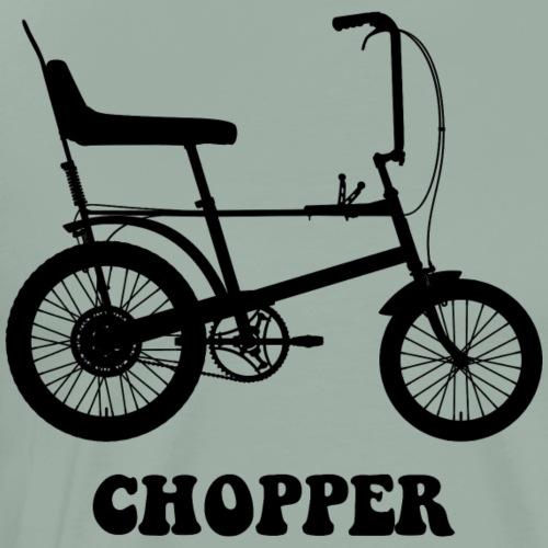 Raleigh Chopper Mk1 Bicycle (Black) - Men's Premium T-Shirt