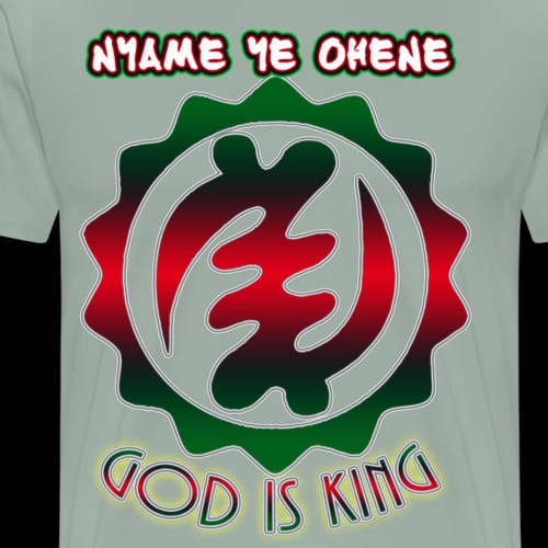God is King Adinkra - Men's Premium T-Shirt