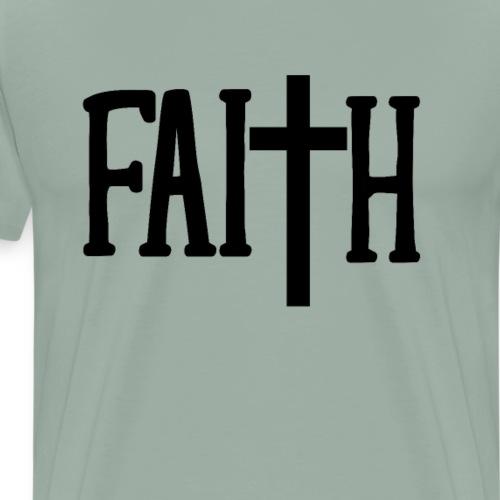 Christian Faith Cross - Christian Gift - Men's Premium T-Shirt