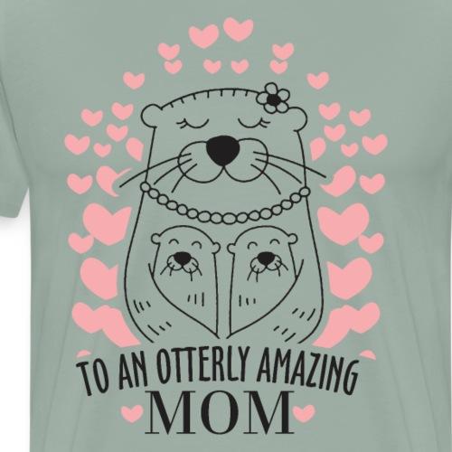 To An Otterly Amazing Mum, Gift For Otter Lovers - Men's Premium T-Shirt