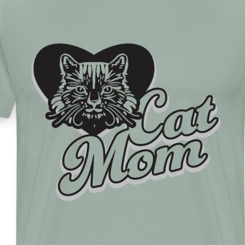 Cat Mom, Cat Mum, Cat Mother, Funny Mother's Day - Men's Premium T-Shirt