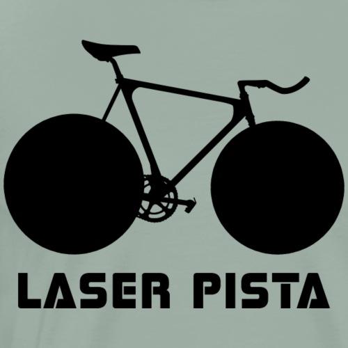 Cinelli Laser Pista Bicycle (Black) - Men's Premium T-Shirt