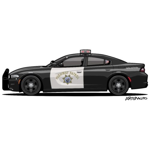 California Highway Patrol Charger Police Car - Men's Premium T-Shirt