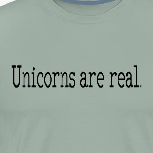 Unicorns are real. minimalist design products - Men's Premium T-Shirt