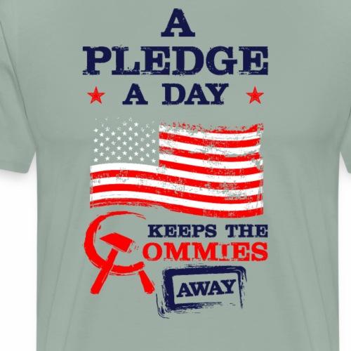 A Pledge A Day Keeps The Commies Away - Men's Premium T-Shirt