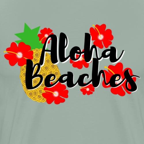 Aloha Beaches - Men's Premium T-Shirt