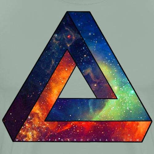 Unique Spacy Impossible Triangle - Men's Premium T-Shirt