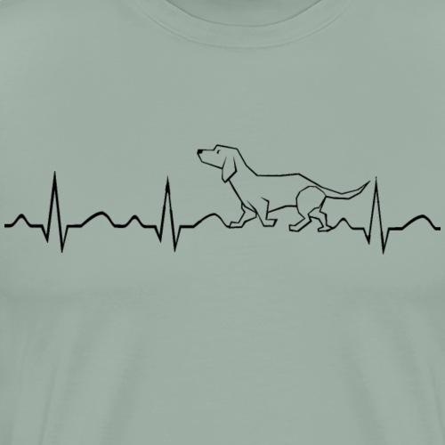 Doxie Love - Love of Dog - Men's Premium T-Shirt